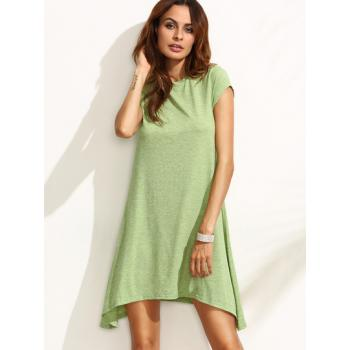 Asymmetrical Green Summer Dress
